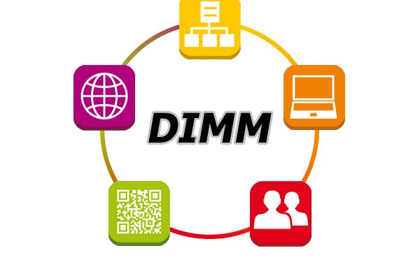 Logo du modèle de maturité digitale DIMM